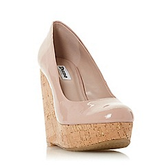 Dune - Light Pink 'Alycea' High Wedge Heel Court Shoes