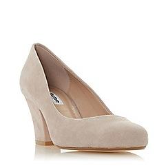 Dune - Light pink suede 'Anthena' mid block heel court shoes