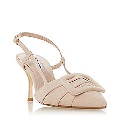 Dune - Light Pink Suede 'Daena' Mid Stiletto Heel Slingback Sandals