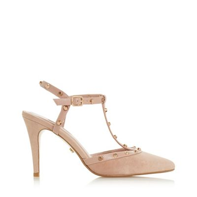 Dune   Cappuccino Suede 'catelynn' Mid Stiletto Heel Court Shoes by Dune