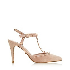 Dune - Cappuccino Suede 'Catelynn' Mid Stiletto Heel Court Shoes