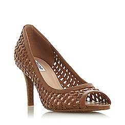 Dune - Tan Leather 'Cruise' Mid Stiletto Heel Court Shoes