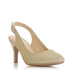 Roberto Vianni - Gold 'Catherin' mid stiletto heel court shoes