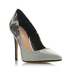 Head Over Heels by Dune - Grey 'Alessa' high stiletto heel court shoes