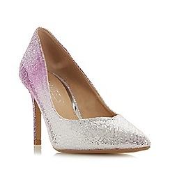 Head Over Heels by Dune - Pink glitter 'Amalia' mid stiletto heel court shoes