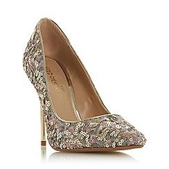 Head Over Heels by Dune - Gold 'Adriene' High Stiletto Heel Court Shoes