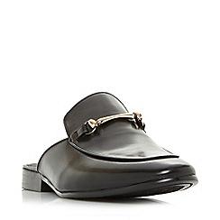 Dune - Black 'Proseidon' backless snaffle loafers