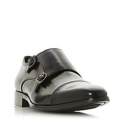 Dune - Black 'Piramid' double buckle monk shoes