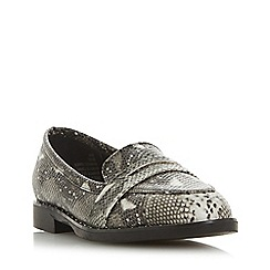 Head Over Heels by Dune - Grey 'Gaia' loafers