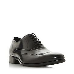 Dune - Black 'Paravale' punched wingtip oxford shoes