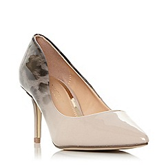 Head Over Heels by Dune - Natural 'Aisla' mid stiletto heel court shoes