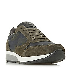 Dune - Khaki 'Talca' mixed panel trainers