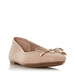 Dune - Natural leather 'Harpar' ballet pumps