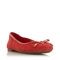 Dune - Red leather 'Harpar' ballet pumps