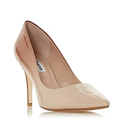 Dune - Natural 'Ammbre' mid stiletto heel court shoes