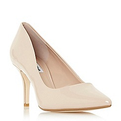 Dune - Natural 'Allina' mid stiletto heel court shoes