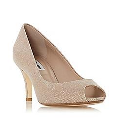 Dune - Light pink 'Cherrice' mid stiletto heel court shoes