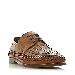 Dune - Tan 'Brigade' Lace Up Woven Loafers