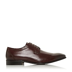Dune - Maroon 'Surreys' laser wingtip gibson shoes
