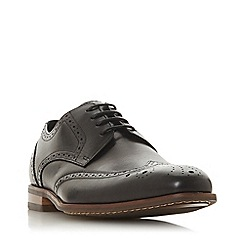 Dune - Black 'Sisco' Leather Brogues Shoes