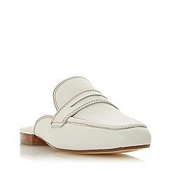Dune - White Leather 'Gardenia' Mules