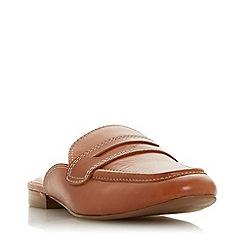 Dune - Tan Leather 'Gardenia' Mules