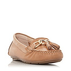 Dune - Tan Leather 'Geena' Loafers