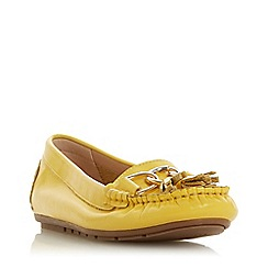 Dune - Yellow Leather 'Geena' Loafers
