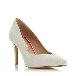 Head Over Heels by Dune - White 'Alexxis' High Stiletto Heel Court Shoes