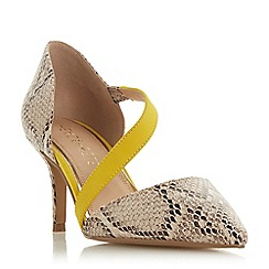 Head Over Heels by Dune - Natural 'Camellia' mid stiletto heel court shoes