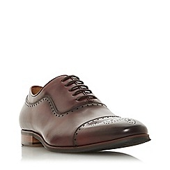 Dune - Maroon 'Sandalswood' Burnished Brogues Toecap Shoes