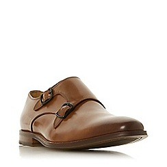 Dune - Tan 'Radiowave' monk strap shoes