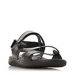 Dune - Black 'Instantly' Leather Chunky Sandals