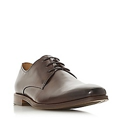 Dune - Brown 'Radioactive' lace up gibson shoes
