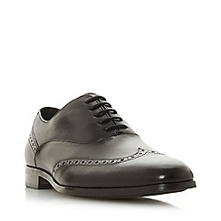 Dune - Black 'Rise' Punched Detail Oxford Shoes
