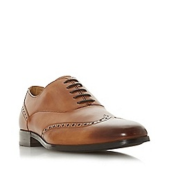 Dune - Tan 'Rise' Punched Detail Oxford Shoes