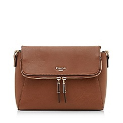 Dune - Tan 'Dorotheaa' Small Zip Detail Cross Body Bag