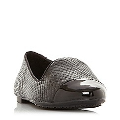 Dune - Black Leather 'Grandd' Loafers