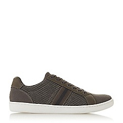 Dune - Grey 'Tremor' Stripe Detail Lace Up Trainers