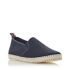 Dune - Navy 'Flin' Mesh Espadrille Shoes