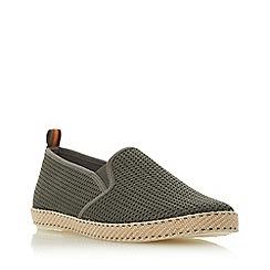Dune - Khaki 'Flin' Mesh Espadrille Shoes