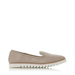 Dune - Grey Leather 'Galleon' Loafers
