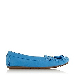 Dune - Blue Leather 'Geena' Loafers