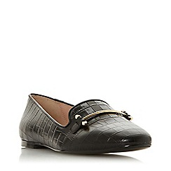 Dune - Black Leather 'Gineene' Loafers