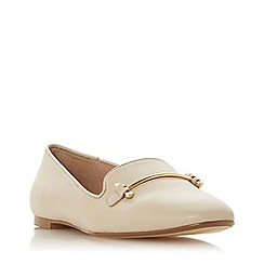Dune - Ecru Leather 'Gineene' Loafers