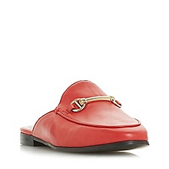 Dune - Red leather 'Geenee' loafers