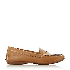 Dune - Tan Leather 'Grover' Loafers