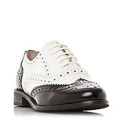 Dune - Multicoloured leather 'Frenchie' block heel brogues