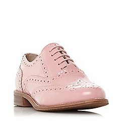 Dune - Pink leather 'Frenchie' block heel brogues