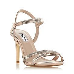 Dune - Light pink 'Magdalena' mid stiletto heel ankle strap sandals